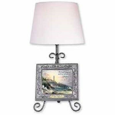 THOMAS KINKADE CLEARING STORMS EASEL TABLE LAMP (New in Box)