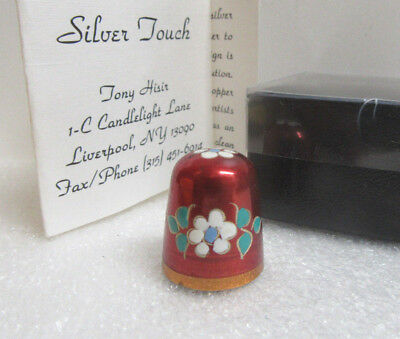 Silver Touch Copper Flower Metal Sewing Thimble