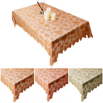 Vintage Lace Rectangle Table Cloth Fall Autumn Thanksgiving Tablecloth 48x96inch