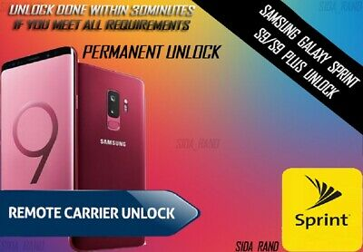 Samsung Galaxy Sprint S9 Plus Permanent Unlock Service