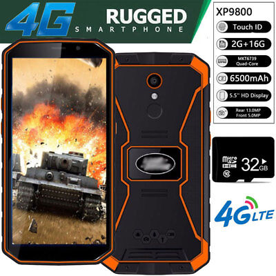 Unlocked Android 4G Rugged Smartphone XP9800 Cell Phone Fingerprint Face ID +32G