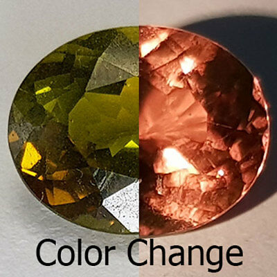 5.15 Cts 11X9Mm Vs2 Oval Color Change Natural Diaspore Loose Gemstone
