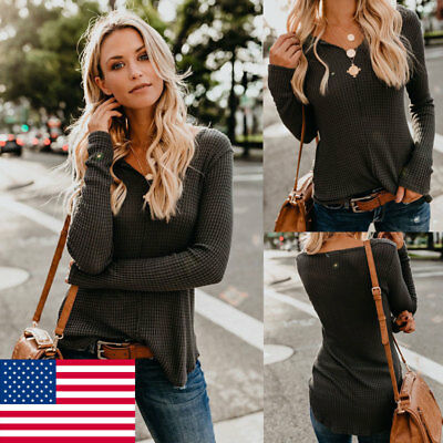 Women Long Sleeve Pullover Knitted Sweater Shirt Ladies Casual Blouse Jumper Top