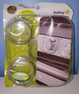 Safety 1st Clear View Stove Knob Covers 5 Count  T1 free shipping