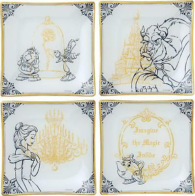 NEW DISNEY Beauty and the Beast Belle Plate Set Dish Tablaware *Japan new