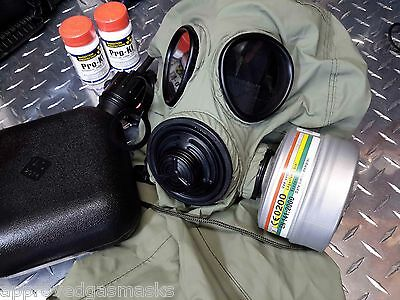 EVO-5000 40mm NATO Military-Grade Gas Mask Kit w/NBC Filter, Canteen & Pouch NEW
