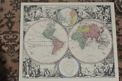 Antique, Rare, Old Lotter World Map
