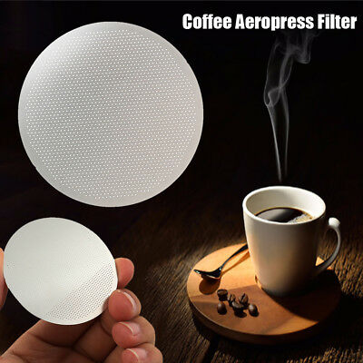 10pcs For AeroPress Metal Filter Ultra Fine Stainless Steel Coffee Filters New