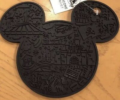 Mickey Mouse Icon Trivet Hot Pad Silicone Disney World Theme Parks NEW