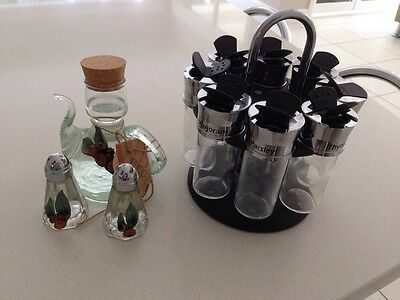 Spice Rack -Rotating Oil Jug Salt And Pepper Shakers