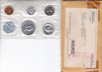 1962 Silver Proof Coin Set With original envelope               No Spots