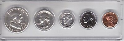 1963 US Mint Silver Proof Set in Holder - Complete Year 5 Coins         No Spots