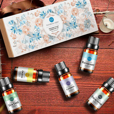 Essential Oils Set of 5 100% Pure Natural Plant Aromatherapy Kit 10ml Gift Box