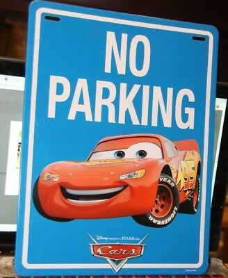 """""""Cars"""" Movie Metal Sign """"NO PARKING"""" with Lightning McQueen, new undisplayed!"""