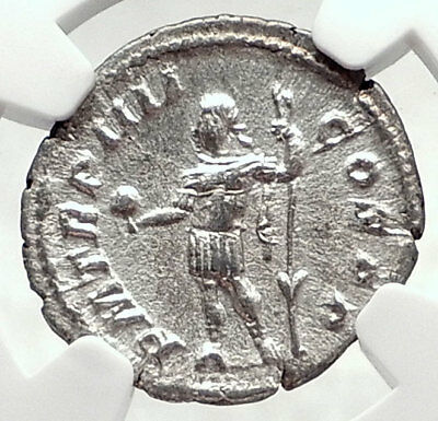 SEVERUS ALEXANDER Authentic Ancient 225AD Rome Silver Roman Coin NGC i72782
