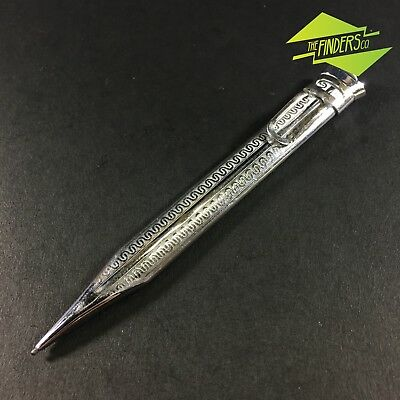 c.1920's ANTIQUE SILVER PLATED KLIMAX? FLAT PROPELLING GREY-LEAD PENCIL WORKING