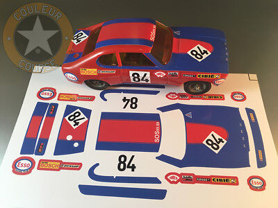 Stickers Pour Ford Capri #84 Lm72 Jouef 1/40 (No Decal Ideal Slot) Dcs008