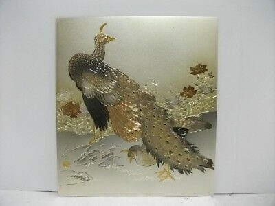 Pure gold, pure silver, a metal engraving product. Peacock. KOOTEI's work