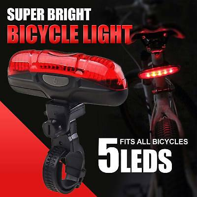 5 LED Waterproof Bicycle Lights Red Beam Rear Cycle Bike Back Tail Lamp