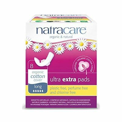 Natracare Organic Cotton Cover Ultra Extra Pads Long with Wings