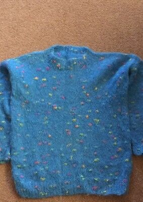 Hand Knitted Mohair Jumper Crew Neck