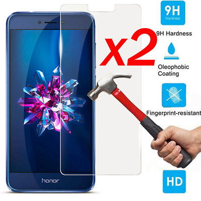 2x 9H Premium Tempered Glass Screen Protector Cover Fr Huawei P Smart FIG-LX1