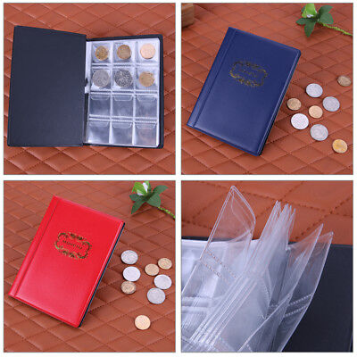 120 Coin Storage Penny Pockets Money Album Book Collecting Coin Holders Colorful