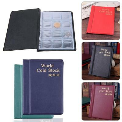 PVC 120 Pockets Coin Collection Storage Book Coin Album Holders 10 Page Colorful