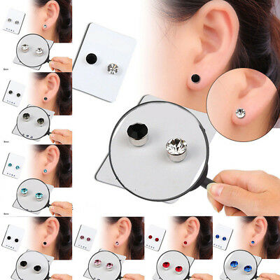 Non Piercing Clip on Magnetic Crystal Magnet Ear Stud Unisex Fake Earrings AU