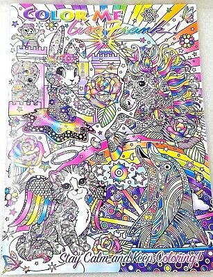 Lisa Frank Adult Coloring Book Color Me Stay Calm Keep