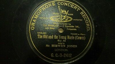 Gramophone concert record single sided disc