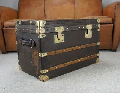 Antique Steamer Trunk By Moynat