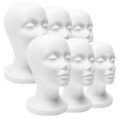Unisex Polystyrene Unisex Male Female Display Mannequin Head Dummy Wig Stand