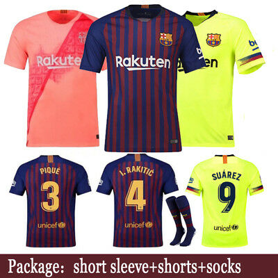 18-19 Football Kits Soccer Suits Jersey Training Shirts For Adults Kids