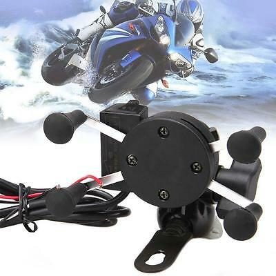 Hot  X-Grip RAM Motorcycle Bike Car Mount Cellphone Holder USB Charger For Phone