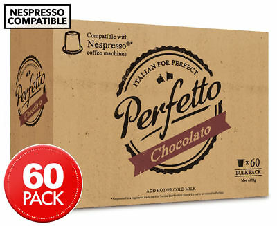 Perfetto Nespresso Compatible Hot Chocolate Capsules 60pk | Limited Stock