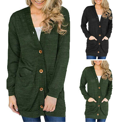 Womens Long Sleeve Womens Slouchy Cardigan Open Front Draped Midi Sweater Jacket
