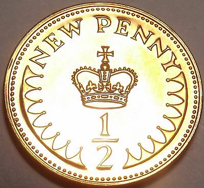 Great Britain 1971 Half New Penny Proof~1st Year Ever Minted