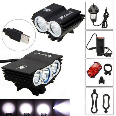 15000LM SolarStorm X2 X3 T6 USB LED Bicycle Lamp Bike Headlight Headlamp 4.2V UK