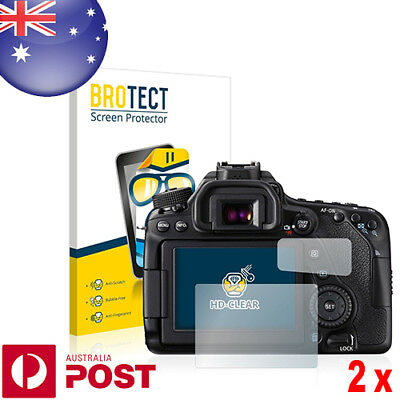 2x BROTECT® HD-Clear Screen Protector for Canon EOS 80D - P113A