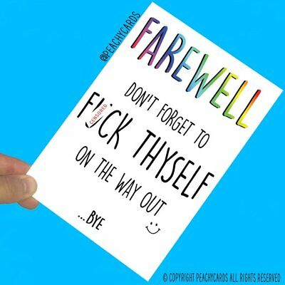 Funny New Job Greeting Cards Leaving Gift Colleague Coworker Farewell Bye PC609