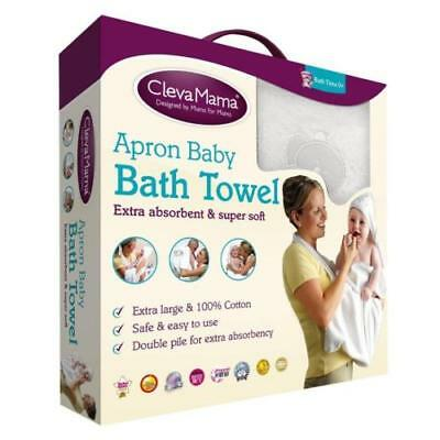 Clevamama Splash & Wrap Apron Baby Bath Towel (White) | 2921
