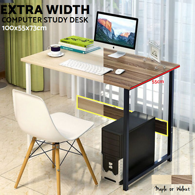 Computer Desk PC Office Desk Laptop Metal Student Study Table Home Work 2 Colour