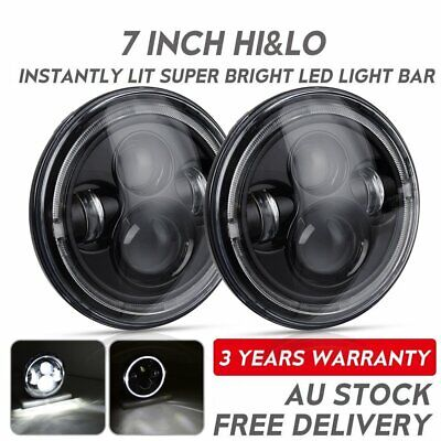 Pair 100W 7 inch CREE LED Headlights DOT Approved For Jeep Wrangler TJ JK 97-17