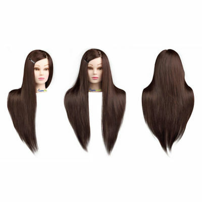 100% Human Real Hair Salon Hairdressing Practice Training Head Mannequin Doll