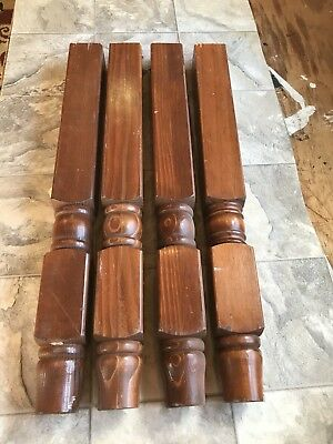 Vintage Architectural Furniture Salvage Turned Wood Farm Sofa Table Legs 22u201d