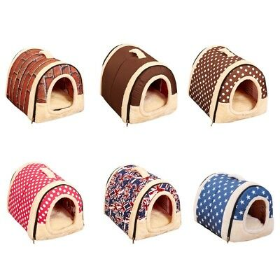 Winter Pet Dog House Kennel Soft Bed Cave Puppy Cat Puppy Bed Doggy Warm Cushion