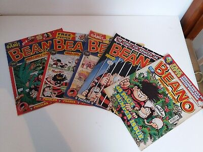 Beano Comic Library Numbers Job Lot Small Bundle of 5 from 2007