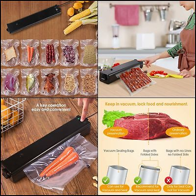 Vacuum Sealer Machine Cakie Sealing System Portable Automatic Mini with Double