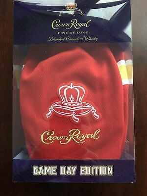 Crown Royal Game Day Edition Bag Box Bottle(empty)